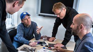 Foto af et kreativt kundemøde i Meidehuset København