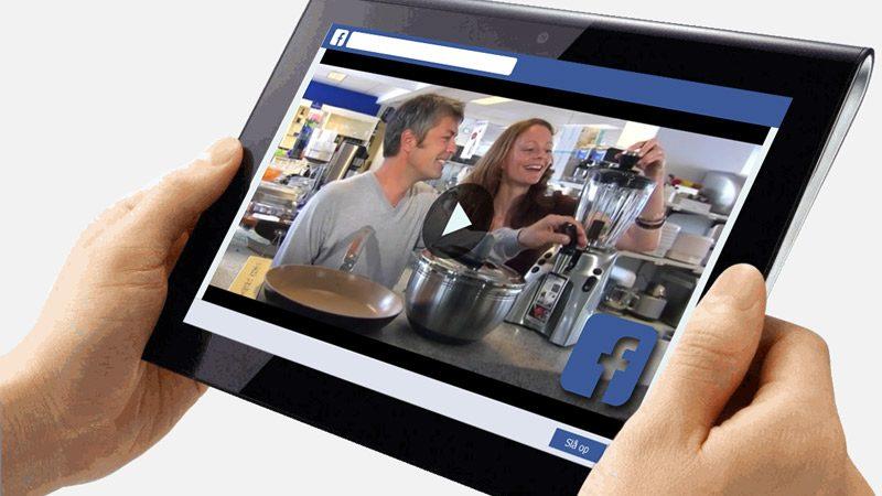 Videoannoncering på Facebook. Produktion af video til online markedsføring