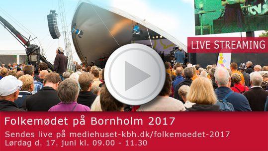 Mediehuset Københavns Livestreaming player for Folkemødet 2017