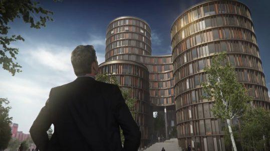 Visualisering af byggeprospekter. Eksemplet her er med Axel Tower