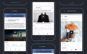 Eksempler på Facebook og Instagram videoformater
