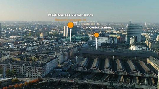 Mediehuset København, green screen studie med livestreaming - bare 1 minut fra Hovedbanegården