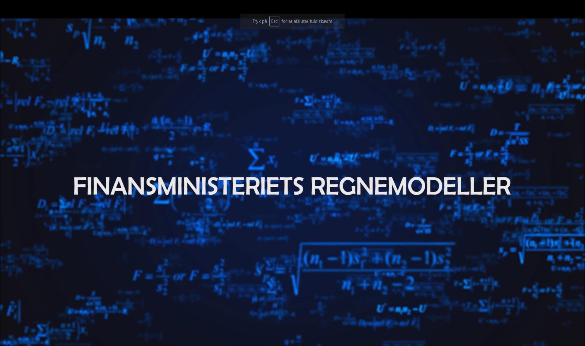 Finansministeriets regnemodeller forside billede