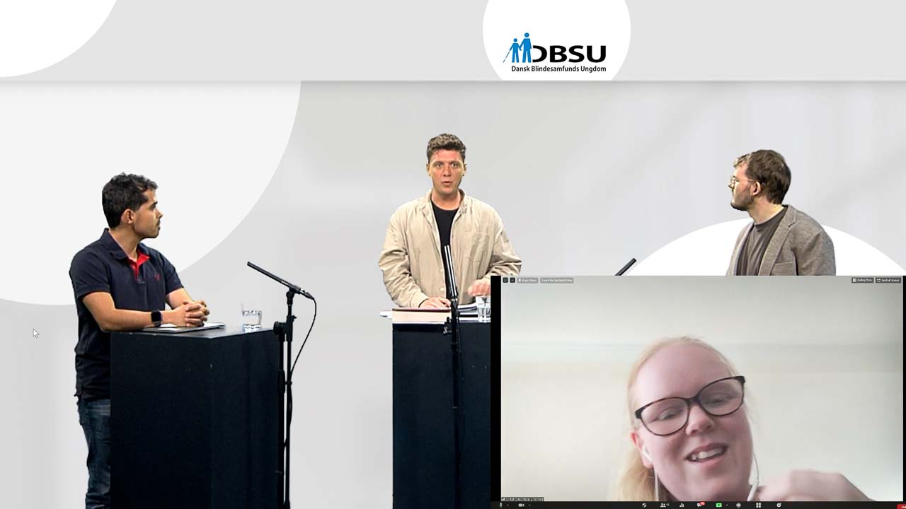 DBSU-landsmøde 2020 afholdt online fra studiet i Mediehuset København og til medlemmerne via Zoom