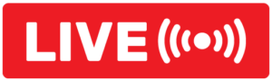 live ikon rød