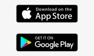 App Store og Google Play logoer