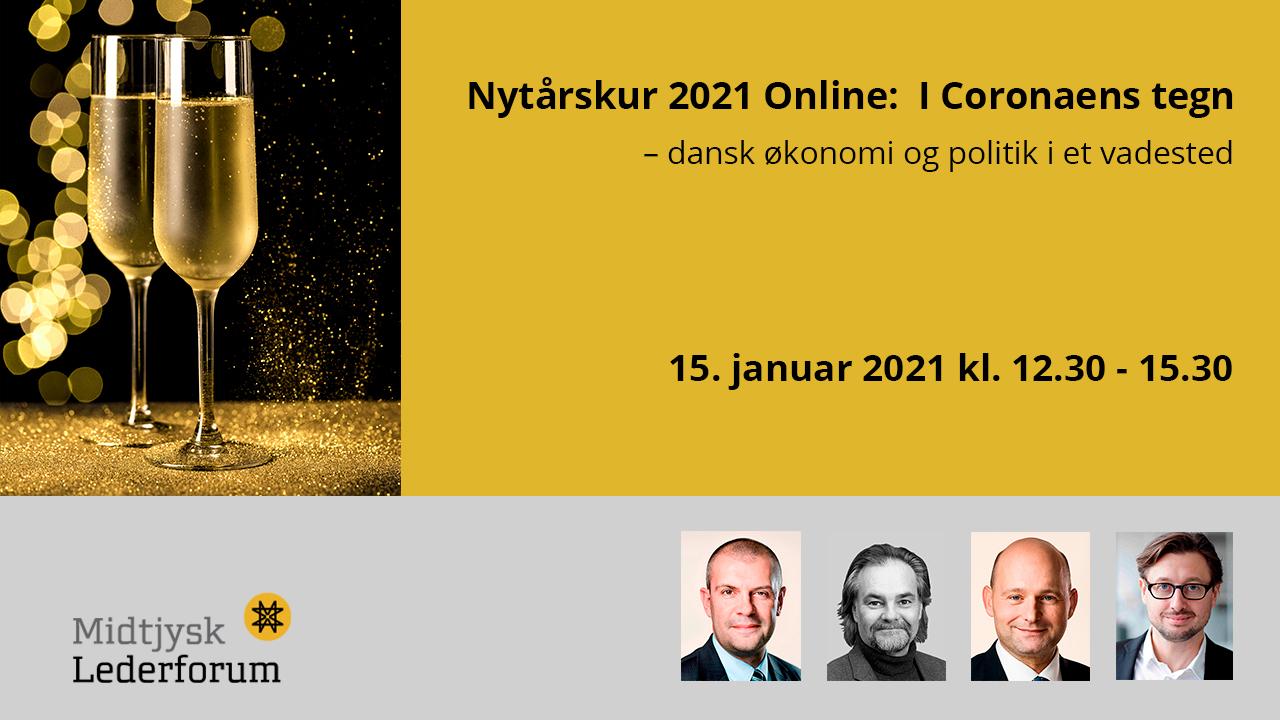 Nytårskur 2021 Online: I Coronaens tegn – dansk økonomi og politik i et vadested