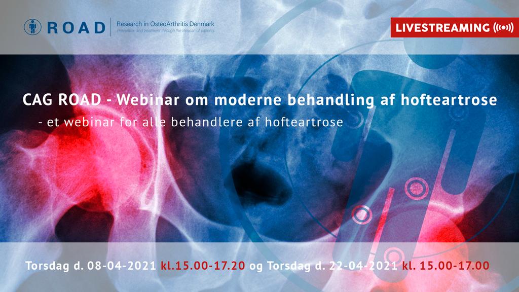 CAG ROAD – Webinar om moderne behandling af hofteartrose d. 8. April, 2021