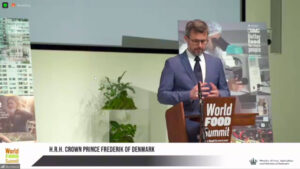 Word Food Summit 2021 HRH Crown prince Frederik Denmark