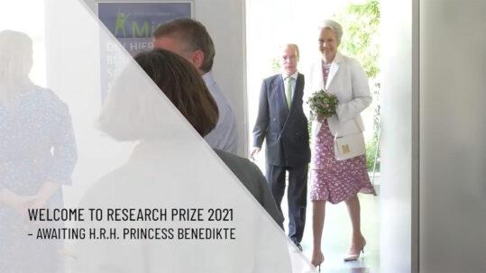 livestreaming af H.K.H. Prinsesse Benedikte ved overrækkelse af Elsass Research Prize 2021