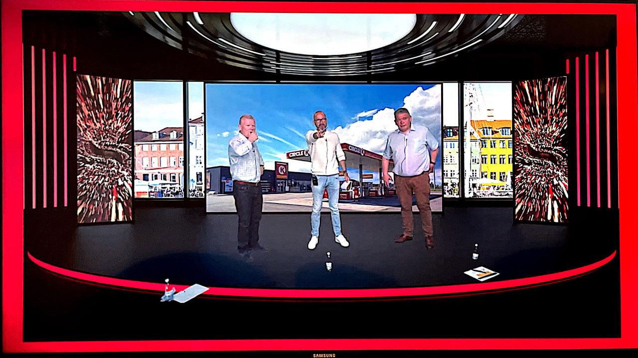Circle K i green screen studiet i Mediehuset København